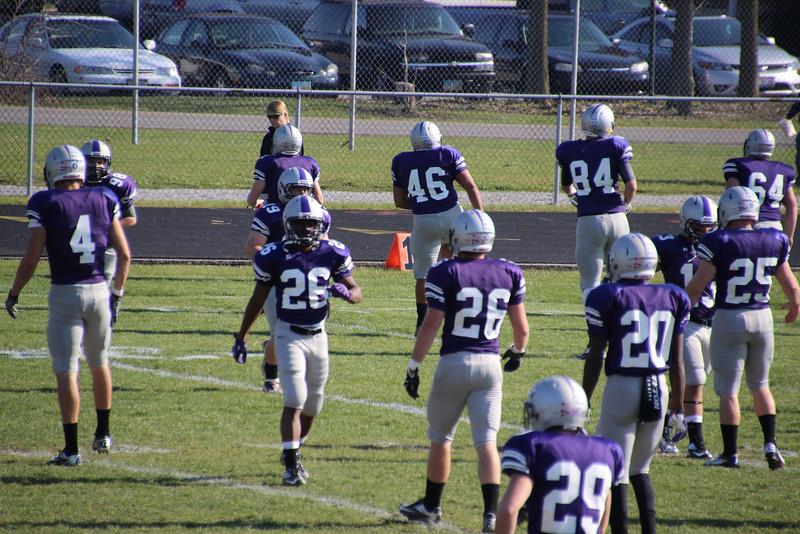 Varsity Football vs Defiance  Seniors Game 2012